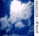 ハート雲と青空 40729360