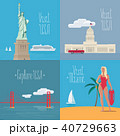 Set of vector illustrations with American symbols 40729663