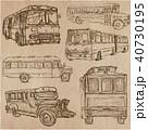 バス コレクション 描くのイラスト 40730195