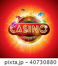カジノ カジノの バックグラウンドのイラスト 40730880
