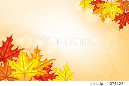 autumn background with leavesのイラスト素材 40731264 pixta