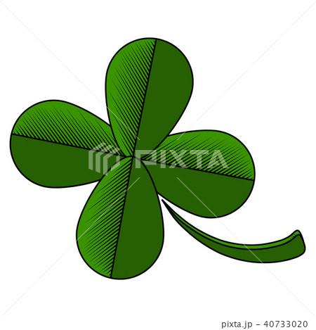 four leaf clover iconのイラスト素材 40733020 pixta