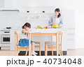 親子、母子、母娘、子ども、リビング学習 40734048