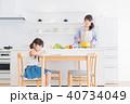 親子、母子、母娘、子ども、リビング学習 40734049