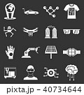 テクノロジー アイコン セットのイラスト 40734644