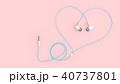 イヤフォン イヤーフォン ハートのイラスト 40737801