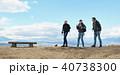 外国人 3人 トレッキングの写真 40738300