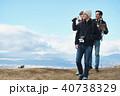 外国人 3人 トレッキングの写真 40738329