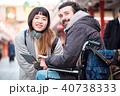 外国人 車椅子 観光客の写真 40738333
