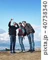 外国人 3人 富士山の写真 40738340