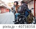 外国人 車椅子 観光客の写真 40738358