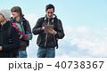 外国人 3人 トレッキングの写真 40738367
