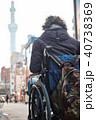 車椅子の男性 旅行 40738369