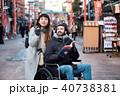 車椅子の男性 旅行 40738381