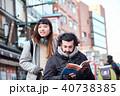 外国人 車椅子 観光客の写真 40738385