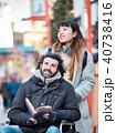 外国人 車椅子 観光客の写真 40738416