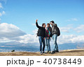 外国人 3人 富士山の写真 40738449
