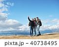 人物 外国人 トレッキングの写真 40738495