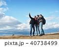 外国人 3人 富士山の写真 40738499