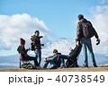 外国人 5人 富士山の写真 40738549