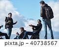外国人 5人 富士山の写真 40738567