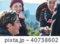 外国人 トレッキング 休憩 40738602