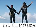 富士山 眺望 トレッキング カップル 40738629