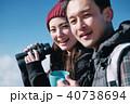 トレッキング カップル 夫婦の写真 40738694