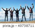 富士山 外国人 眺望 ポートレート 40738711