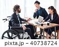 車椅子の男性 ビジネス 40738724