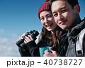トレッキング カップル 夫婦の写真 40738727