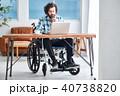 車椅子の男性 ビジネス 40738820
