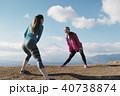 女性 2人 富士山の写真 40738874