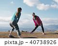 女性 2人 富士山の写真 40738926