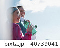 外国人 女性 フィットネス 水分補給 40739041