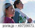 外国人 女性 フィットネス 水分補給 40739071