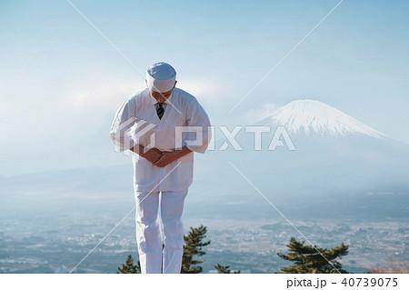 料理人 富士山 日本 ポートレート 40739075