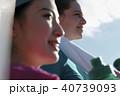 外国人 女性 フィットネス 水分補給 40739093