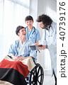 車椅子の男性 医療 40739176