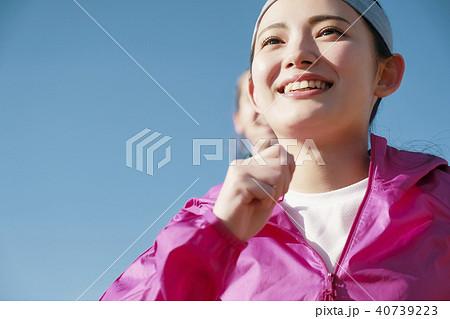 外国人 女性 ランニング 40739223