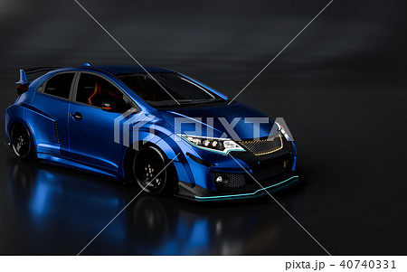 3D Rendering of Generic Concept Racing Car. 40740331