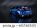 3D Rendering of Generic Concept Racing Car. 40740335