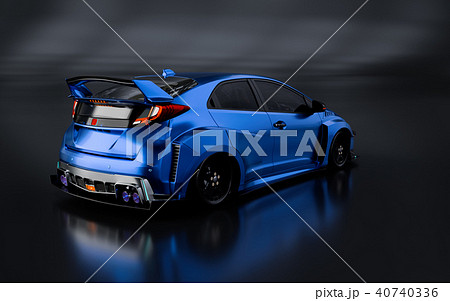 3D Rendering of Generic Concept Racing Car. 40740336