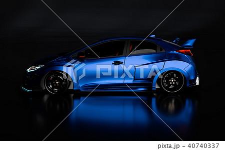 3D Rendering of Generic Concept Racing Car. 40740337