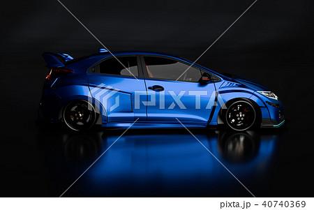 3D Rendering of Generic Concept Racing Car. 40740369
