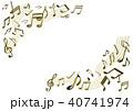 ベクター 音楽 メロディのイラスト 40741974