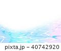 海 水紋 水彩のイラスト 40742920