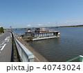 潮来アヤメ園の北利根川の船着場 40743024