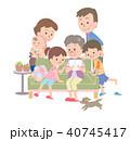 家族 三世代 人物のイラスト 40745417