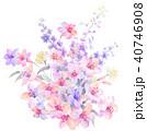 透明水彩 水彩画 ウォーターカラーのイラスト 40746908